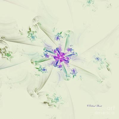 Poster featuring the digital art Floral Spiral by Deborah Benoit