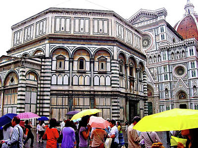 Florence Baptistery Poster by Debbie Oppermann