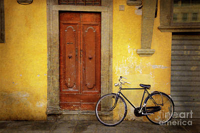 Poster featuring the photograph Florence Bicycle Under The Sun by Craig J Satterlee