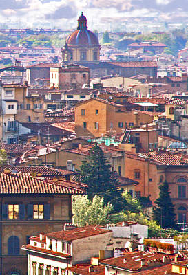 Florence Rooftops Poster by Pamela Kelly Phillips
