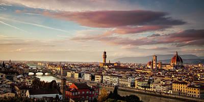 Florence Skyline Poster by Andrew Soundarajan
