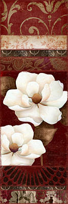 Flores Blancas Rectangle II Poster by Mindy Sommers