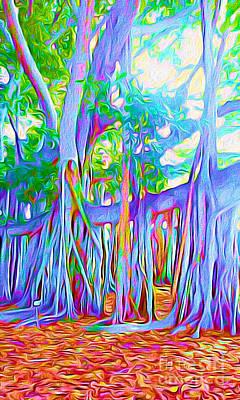 Florida Banyan Tree II Poster by Chris Andruskiewicz