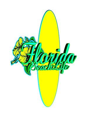 Florida Beach Life Poster