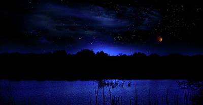 Florida Everglades Lunar Eclipse Poster