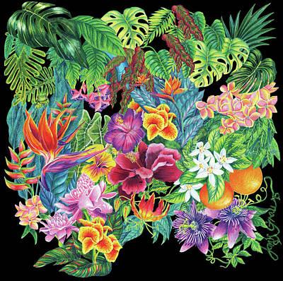 Florida Garden Poster by Janis Grau