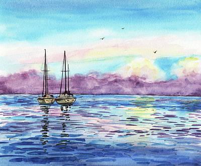 Poster featuring the painting Florida Keys Islamorada Shore by Irina Sztukowski