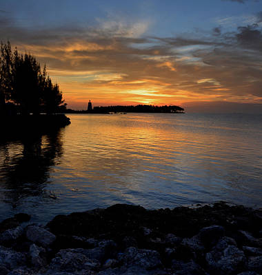 Poster featuring the photograph Florida Keys Sunset by Stephen  Vecchiotti