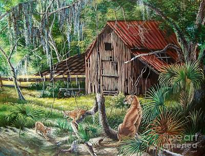 Florida Panther- The Fight For Survival Poster by Daniel Butler