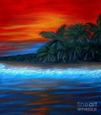 Florida Sunset Poster by Oksana Semenchenko