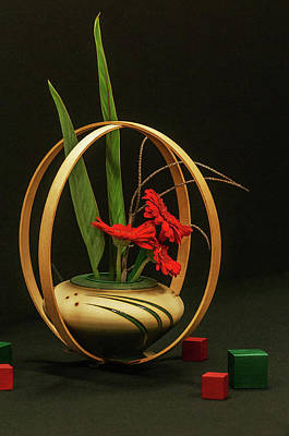 Poster featuring the photograph Flow Ikebana by Carolyn Dalessandro