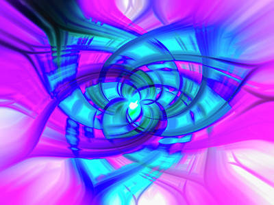 Flower Abstract Poster by Penny Lisowski