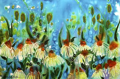 Flower And Water Poster by Shirley Sykes Bracken