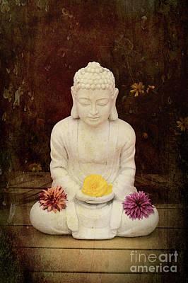 Flower Buddha Poster by Tim Gainey