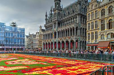 Flower Carpet 2014, Brussels Hdr Poster by Sinisa CIGLENECKI