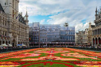 Flower Carpet, Brussels Poster by Sinisa CIGLENECKI