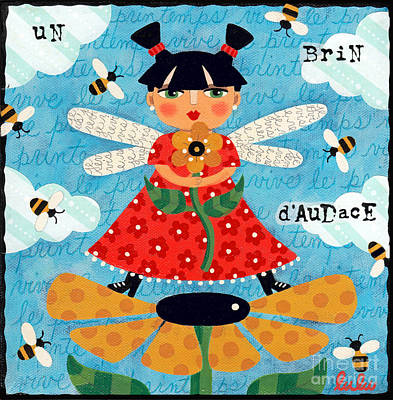 Flower Fairy With Bees Poster