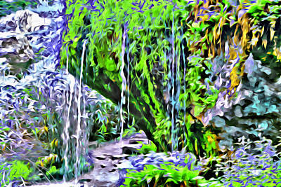 Flower Falls Poster