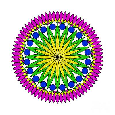 Flower Mandala By Kaye Menner Poster