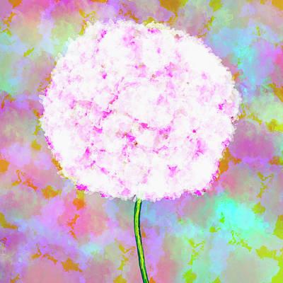 Flower On Color Poster