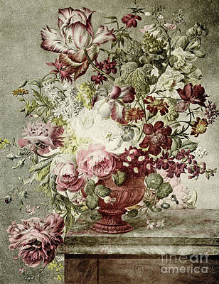 Flower Painting Poster by Paul Theodor van Brussel