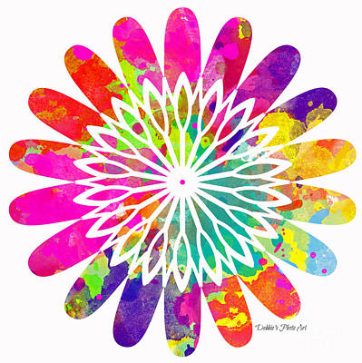 Flower Power 2 - Digital Paint Poster by Debbie Portwood