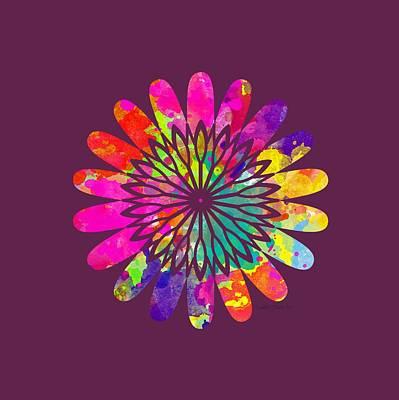 Flower Power 3 - Tee Shirt Design Poster by Debbie Portwood
