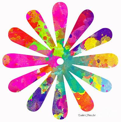 Flower Power 4 - Digital Art Poster by Debbie Portwood