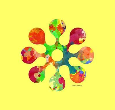 Flower Power 4 - Tee Shirt Design Poster by Debbie Portwood