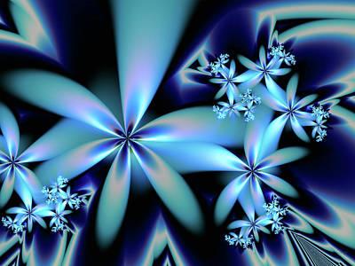Flower Power Blue Poster