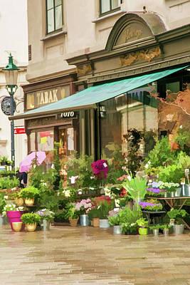 Flower Shop In Vienna Poster