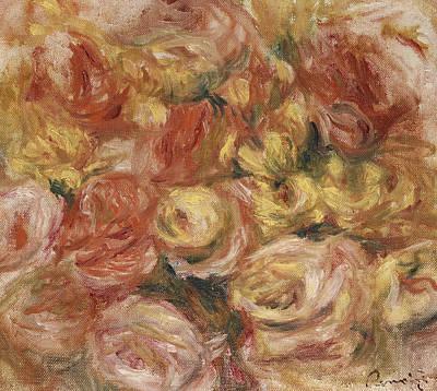 Flower Sketch Poster by Pierre Auguste Renoir