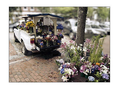 Flower Truck On Nantucket Poster by Tammy Wetzel