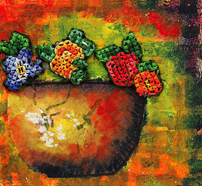 Flower Vase Poster by Nirdesha Munasinghe