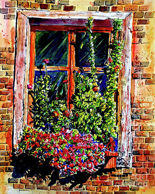 Flower Window Poster by Terry Banderas