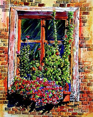 Flower Window Poster