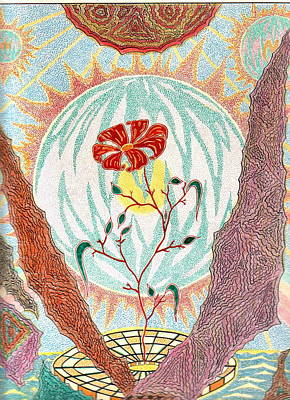 Poster featuring the pastel Flower by Yury Bashkin
