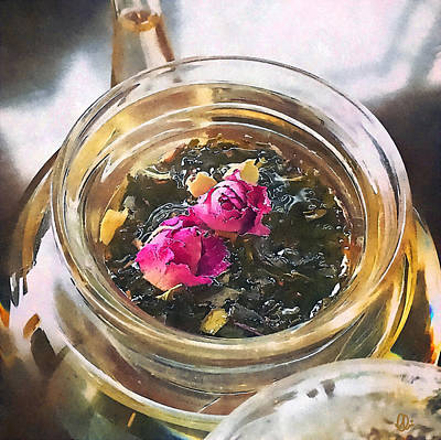 Flowering Tea  Poster by Stacey Chiew
