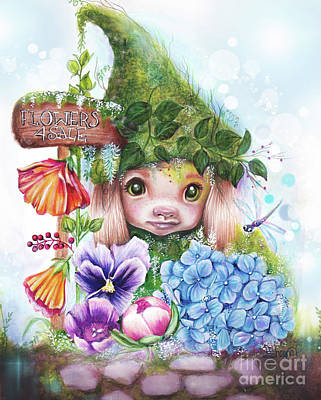 Flowers 4 Sale - Garden Whimzies Collection Poster by Sheena Pike