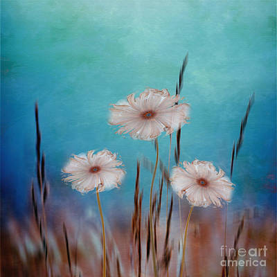 Poster featuring the digital art Flowers For Eternity 2 by Klara Acel