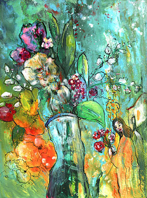 Flowers For You Poster by Miki De Goodaboom