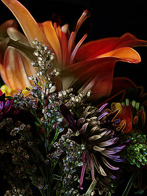 Poster featuring the digital art Flowers 2 by Stuart Turnbull