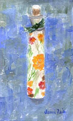 Poster featuring the painting Flowers In A Bottle by Jamie Frier