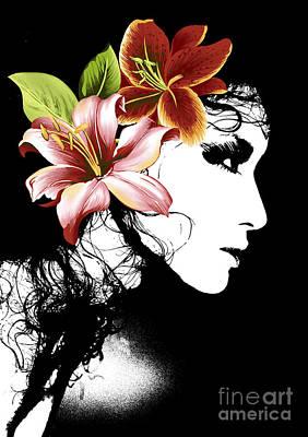 Flowers It Is My Lady Poster by Ramneek Narang