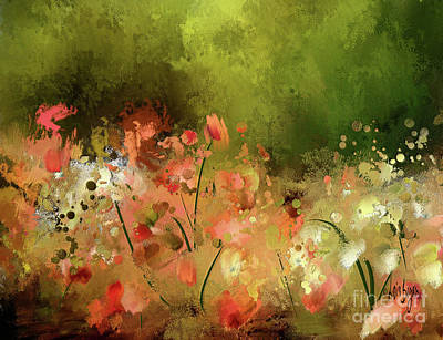Poster featuring the digital art Flowers Of Corfu by Lois Bryan