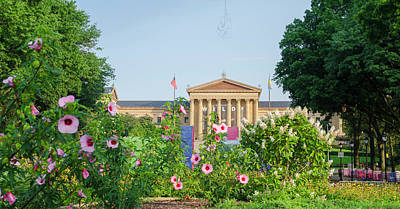 Flowers On The Parkway - Philadelphia Art Museum Poster