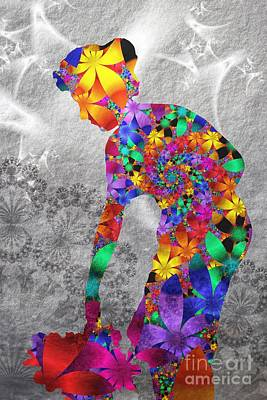 Flowerwoman Poster