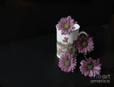 Flowery Teacup Poster by Ann Horn