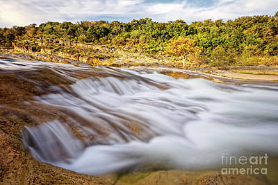 Flowing Waters Of The Pedernales River At Pedernales Falls State Park - Texas Hill Country Poster