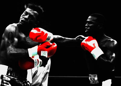 Floyd Mayweather And Arturo Gatti Poster by Brian Reaves